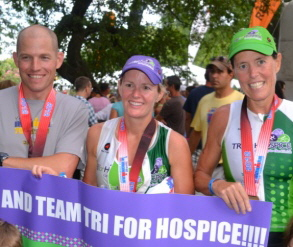Team Tri for Hospice at the Ironman Chamionship Race